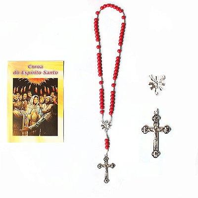 Terço com folheto de oração, Coroa do Espirito Santo - A Dúzia - Cód.: 1854