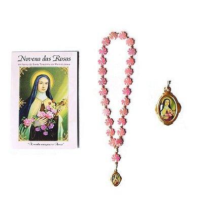 Terço com folheto de oração, Novena das Rosas - O Pacote com 6 Peças - Cód.: 1853
