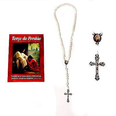 Terço com folheto de oração, Terço do Perdão - O Pacote com 6 Peças - Cód.: 2091