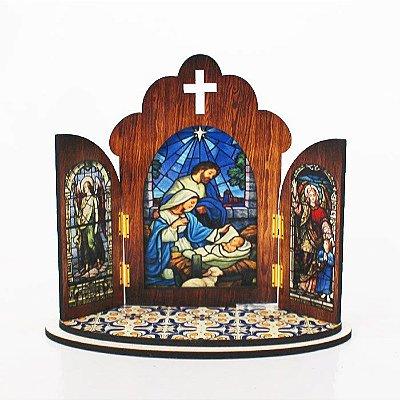 Capela portuguesa de Presépio - O pacote com 3 peças - Cód.: 6355