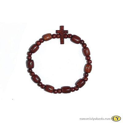 Pulseira Religiosa em Madeira - A Dúzia - Cód.: 0880