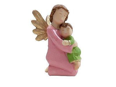 Anjo em Pé Rosa em Resina  - O pacote com 3 peças - Cód.: 8827