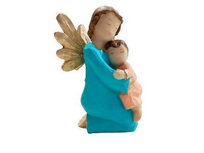 Anjo em Pé Verde em Resina  - O pacote com 3 peças - Cód.: 8827