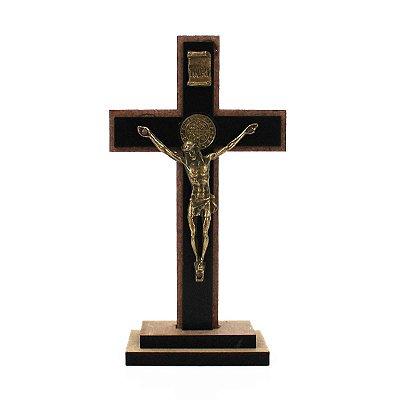 Crucifixo em MDF com a Medalha de São Bento P - A unidade - Cód.: 7226