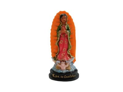 Imagem de Nossa Senhora de Guadalupe P em Resina - Pacote com 3 Unidades - Cód.: 8564