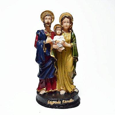 Imagem da Sagrada Família P em resina 12 cm - Pacote com 3 unidades - Cód.: 8667
