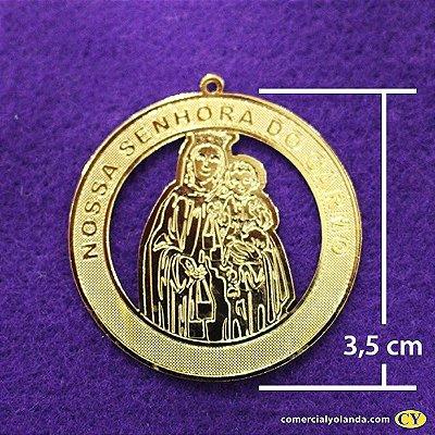 Medalha dourada de Nossa Senhora do Carmo - A Dúzia - Cód.: 0652