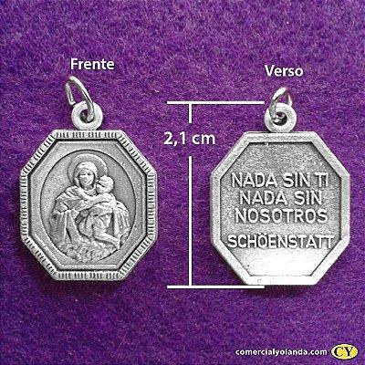 Medalha Fosca de Nossa Senhora Mãe Rainha - A Dúzia - Cód.: 3630