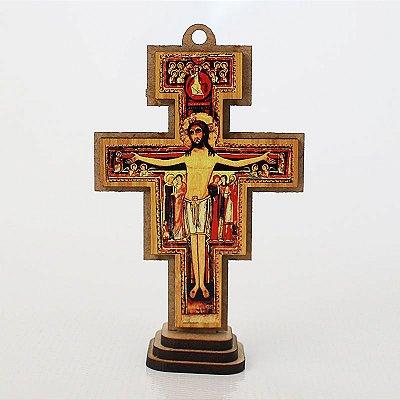 Cruz de São Damião em MDF - Tamanho PP - O Pacote com 3 unidades - Cód.: 7109
