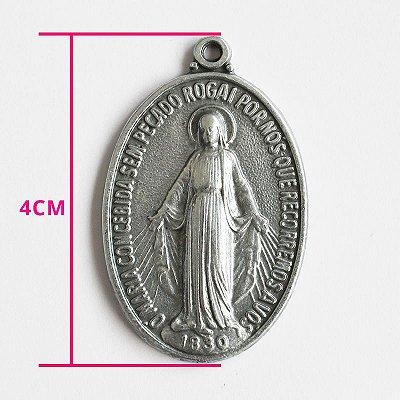 Medalha Milagrosa de Nossa Senhora das Graças - G - pacote com 30 peças - Cód.: 7835