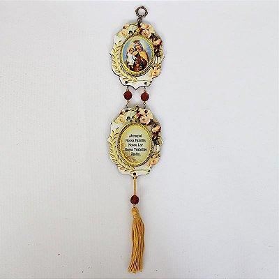 Mini Adorno Estampado com Oração - Nossa Senhora do Carmo - Pacote com 3 peças - Cód.: 5468