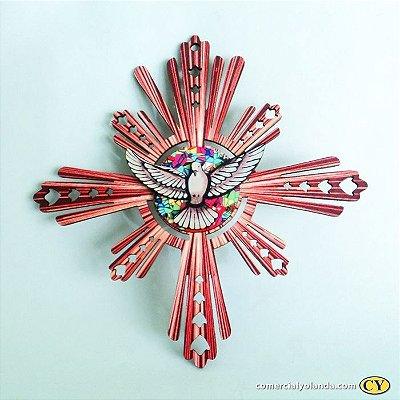 Enfeite de parede do Divino Espirito Santo - Vermelho - O Pacote com 3 unidades - Cód.: 3907