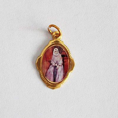Medalha de Alumínio Resinada - Nhá Chica - Pacote com 100 peças - Cód.: 447