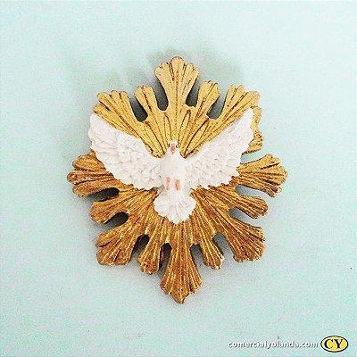 Divino Espirito Santo de parede em resina - Pacote com 3 peças - Cód.: 5517