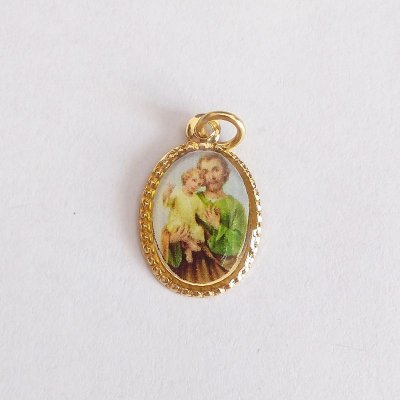 Medalha de Alumínio Resinada - São José - Pacote com 100 peças - Cód.: 447