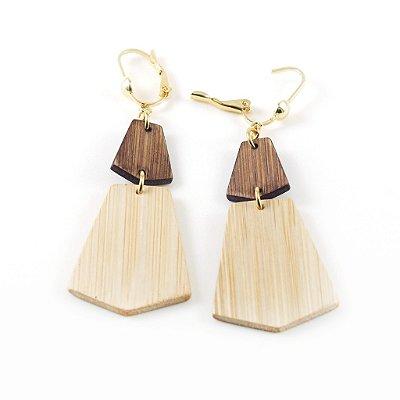 Marrocos - Brinco artesanal em bambu e ouro - Arte do Mato