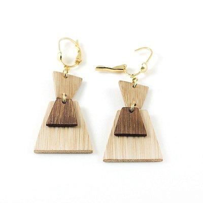 Egito - Brinco artesanal em bambu e ouro - Arte do Mato