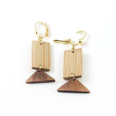 Design - Brinco artesanal em bambu e ouro - Arte do Mato