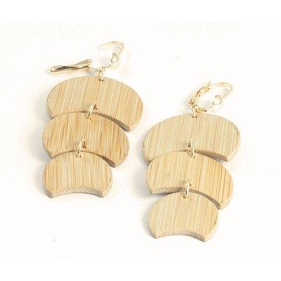 Eclipse - Brinco artesanal em bambu e ouro - Arte do Mato