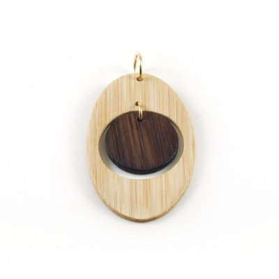 Hórus - Pingente artesanal em bambu e ouro - Arte do Mato
