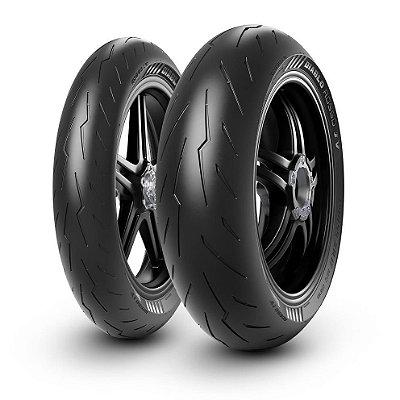 Par Pneus Pirelli Diablo Rosso 4 120/70-17+180/55-17