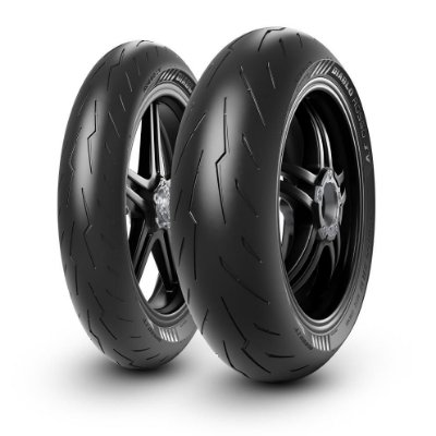 Par Pneus Pirelli Diablo Rosso 4 120/70-17+190/55-17