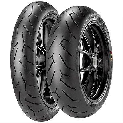 Par Pneus Pirelli Diablo Rosso 2 110/70-17+150/60-17 Ninja 300 KTM Duke