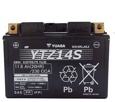 Bateria Yuasa Ytz14S CB1300 FZ1-Fazer KTM Shadow750