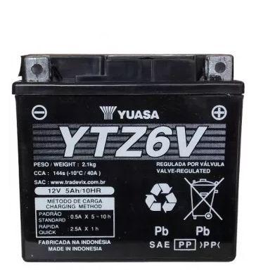 Bateria Yuasa Ytz6V Titan150 Bros150Es Biz125Es