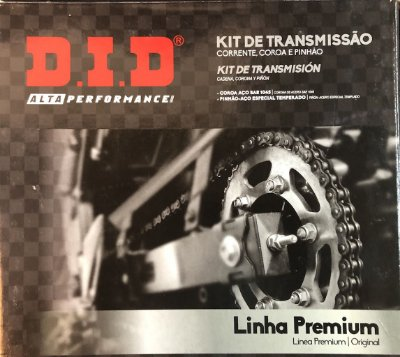 Kit Transmissão Did Yamaha Ys 250 Fazer até 2017 45/15T 428Hxv-132L s/ retentor