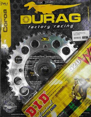 Kit Completo Transmissão Durag DID XT660 1994-2001 Tenere 1990-1993