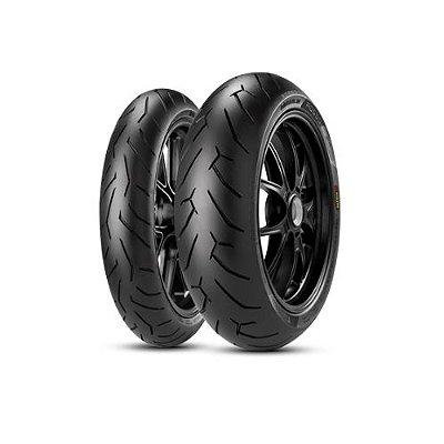 Par Pneus Pirelli Diablo Rosso 2 120/70-17+240/45-17 Diavel