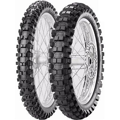 Par Pneus Pirelli Scorpion MX Extra J 60/100-14+80/100-12