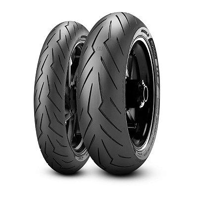 Par Pneus Pirelli Diablo Rosso 3 120/70-17+180/55-17