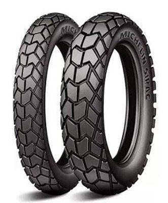Par Pneus Michelin Sirac 90/90-21+120/90-17