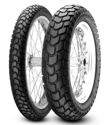 Par Pneus Pirelli MT60 90/90-21+130/80-17 uso com camara