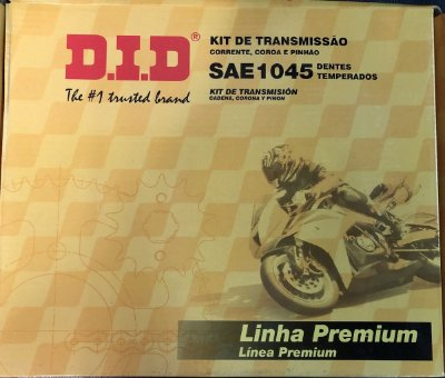 Kit Transmissão Did Titan 150 -43/16T- 428HXV-118L c/ retentor