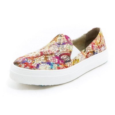 Tênis Slip-on Renda Colorida