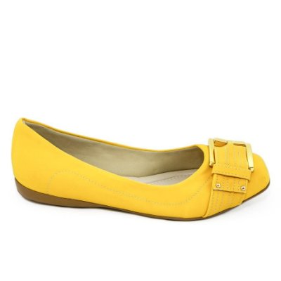 Sapatilha Amarela com Fivela