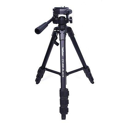 Tripé Profissional para Câmeras Altura Máxima 1,45m CX-888/F - Greika