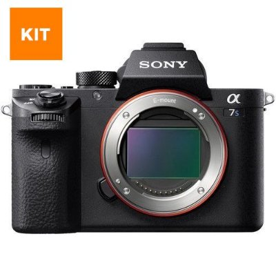 Kit Sony Alpha A7S + Lente 28-70 + Bateria, cartão e curso online
