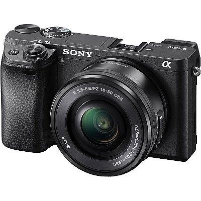Câmera Sony A6300 com lente SELP1650