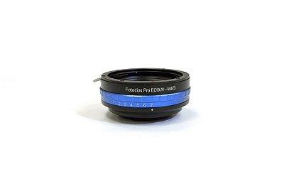 Adaptador de Lente Canon EOSM4/3 com Controlador de Iris - Fotodiox
