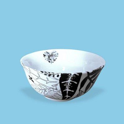 Bowl em porcelana Estampada
