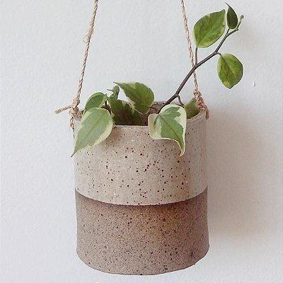 Vaso Suspenso em Cerâmica