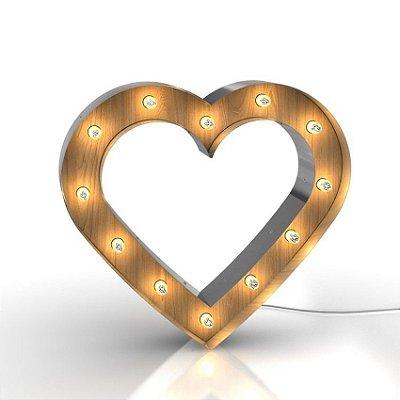 Luminária Retrô - Coração