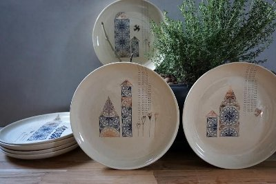 Pratos estampados - Castelos imaginários