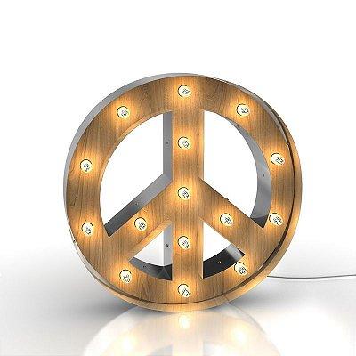 Luminária retrô - Paz e Amor