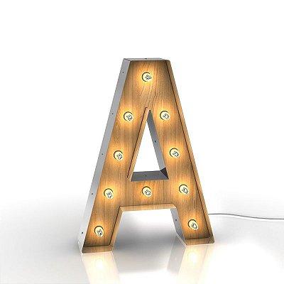 Luminária Letras - A até I