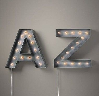 Luminária Letras - S até Z
